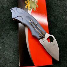 "Spyderco Meerkat C64Pble Sprint Run Knife Blue Frn 2"" Satin V-Toku2 New"