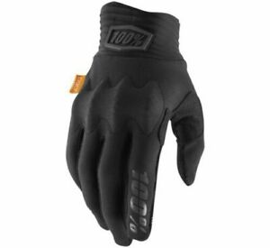 100% Cognito Cycling Gloves Adult Size Medium Black/Charcoal