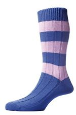 Scott-Nichol Heritage English Socks. The Cambridge Sock with Rugby stripe