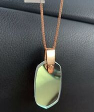Kendra Scott Inez Necklace Rose Gold & Iridescent Dichroic Glass Nwt + Pouch