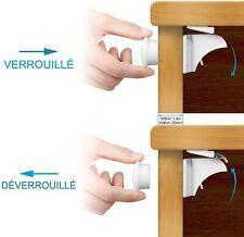 6 Bloques Portes Magnétiques + 2 Clés - ADORIC - Sécurité Placard Enfant Bloque