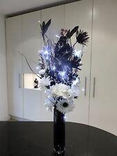 black white display in Dark GLASS vase (20 LED lights), CONSERVATORY