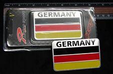 GERMAN FLAG METAL 3D EMBLEM DECAL STICKER LOGO FOR CARS DEUTSCHE FLAGGE FROM USA