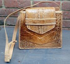 Vintage Hornback Alligator Skin Shoulder Bag/Handbag, 1960's, tan, GC
