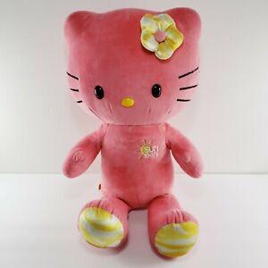 Build A Bear Pink Hello Kitty by Sanrio Stuffed Animal Plush Sunshine Flower