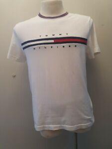 Tommy Hilfiger Mens White Tshirt Top Size M