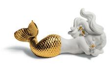 Lladro Day Dreaming At Sea Mermaid (Golden Re-Deco) #8560 Brand Nib Save$ F/Sh