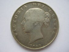 1849 Halfcrown F old cleaning