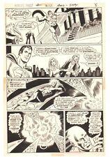 World's Finest Comics #213 p.7 - Superman & Atom Action 1972 art by Dick Dillin Comic Art
