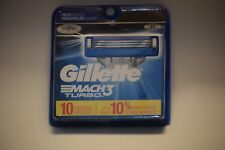 Gillette Mach 3  TURBO Razor 10 Cartridges -   NEW SEALED