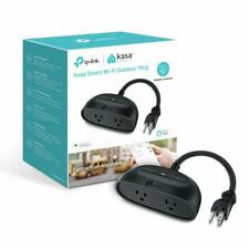 Kasa TP-Link Wi-Fi Outdoor Plug Dual Smart Outlets, 2 Outlet Smart Plug | KP400
