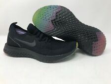 Nike Epic React Flyknit Be True Black Rainbow Women's 6 AR3772-001 No Box Top