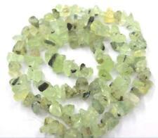 "Diy prehnite freeform chip beads strand 16"" hand making 4-9mm"