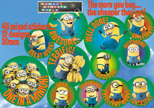 48 Teacher Reward Stickers 30mm Well Done non- personalised