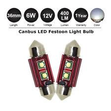 2//4//6//8//10 Festoon CANBUS 31//36//39//41mm Light Bulb Interior FOOTWELL White