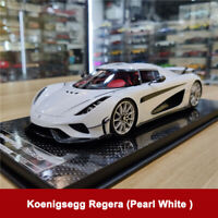 Limited FrontiArt 1:18 Koenigsegg Regera Pearl White Resin Car Model Collection