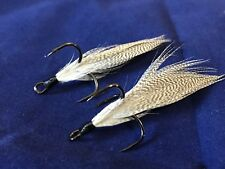 Xmarks Custom Feathered Trebles Owner ST-41 BC 2X Size 2 Fish Tail