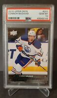 2015 UPPER DECK #201 CONNOR MCDAVID YG RC UD YOUNG GUNS ROOKIE PSA 10 OILERS