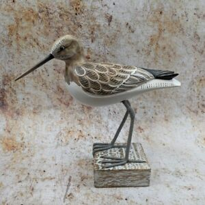 Sandpiper Wooden Mounted Hand Carved And Painted Beach Bird