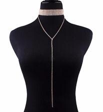 Diamond Rhinestone Luxury Tassle Crystal Chunky Choker Collar Necklace & EarRing