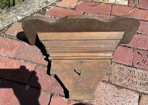 Large Antique Victorian Renaissance Revival Wood WHATNOT / CLOCK SHELF