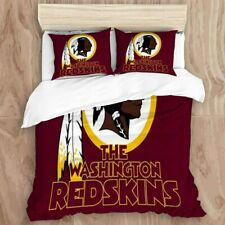 Washington Redskins 3PCS Bedding Set Duvet Cover Pillowcases Quilt Cover US Size