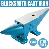 Round Horn 66 LB Blacksmith Cast Steel Anvil Hardy Hole Heavy Duty Grade