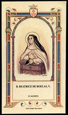 santino-holy card B.BEATRICE DE ROELAS mercedaria