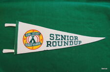 1956 GIRL SCOUT SENIOR ROUNDUP PENNANT - ONLY 5,000 GIRLS - SCARCE