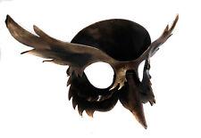 Midnight gufo uccello MASCHERA PELLE a mano VENEZIANO Masquerade