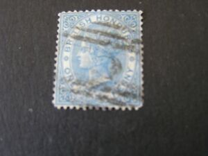 BRITISH HONDURAS, SCOTT # 8, 1p. VALUE BLUE 1877-79 QV PERF 14 ISSUE USED