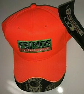 hunting fishing hat PRIMOS blaze orange geen patch & MossyOak visor-trim SHARP!