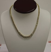 14K Yellow Gold Tennis Necklace with 4.63 Carats of Diamonds, 36.3 grams, 16.5""