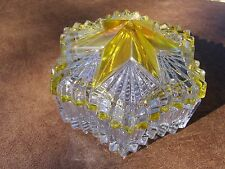 Mikasa Japan crystal lidded star shaped candy / trinket jar,  w/ star on lid