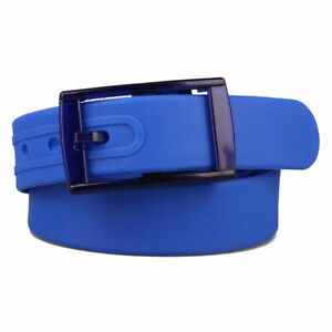 NEW! Royal Blue Silicone Rubber Belt Jelly Golf Sport Fashion One Size Fits All
