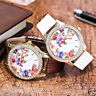 Vintage Women's Butterfly Retro Crystal Round Quartz PU Leather Band Wrist Watch