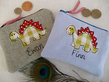 Handmade Personalised Children's Boys Purse Wallet, Choice of designs and words
