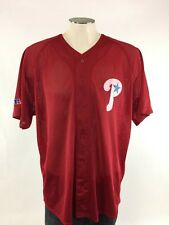 Philadelphia Phillies Jersey XL Red Mesh Batting MLB Baseball VTG Throwback 90s
