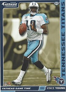 VINCE YOUNG TENNESSEE TITANS TEXAS LONGHORNS HORNS FATHEAD TRADEABLES 2008 G23