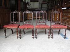 Gruppo di quattro sedie luigi filippo in noce da restaurare - epoca metà 800