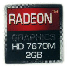 Radeon Graphics HD 7670m 2gb STICKER ADESIVO LOGO 16x16mm (143)