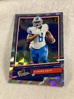 """D'Andre Swift 2020 Donruss """"The Rookies"""" Holo Rookie Insert SP RC #TR-DS 