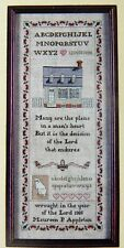 Hearts Content Williamsburg COLONIAL CHARM SAMPLER Counted Cross Stitch Kit #5 -