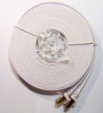 Cable plat RJ45 de 15M Cat7 10GB avec clips de fixation