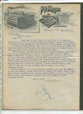 Vintage Illustrated Letterhead HA MOYER Spring Buggy & Wagons Syracuse NY 1888