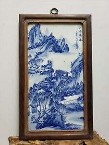 Fine Chinese Porcelain Blue&White Plaque