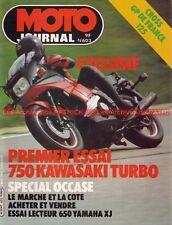 MOTO JOURNAL  603 KAWASAKI ZX 750 Turbo GPZ YAMAHA XJ 650 Cardel 80 et 125 1983