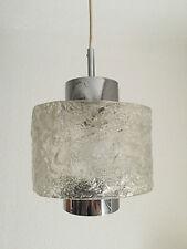 Rare Ceiling Light Lamp Chrome Ice Glass Design Lampe Kalmar Murano Era