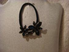 Hair band ponytail holder  flowers shades of black