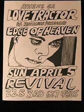 ORIGINAL CONCERT FLYER-LOVE TRACTOR-EDGE Of HEAVEN-Philly 1980s
